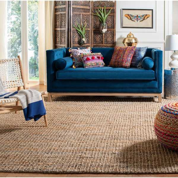 Safavieh Casual Natural Fiber Hand-Woven Natural Accents Chunky Thick Jute Rug - 4' x 6'