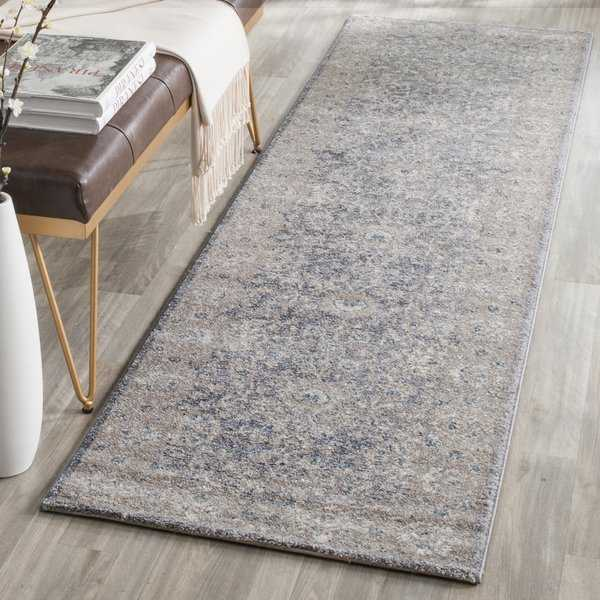 Safavieh Sofia Vintage Oriental Light Grey/ Beige Runner Rug - 2'2' x 12'