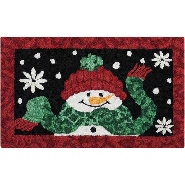 Waverly Christmas 'Snowman' Black Accent Rug by Nourison