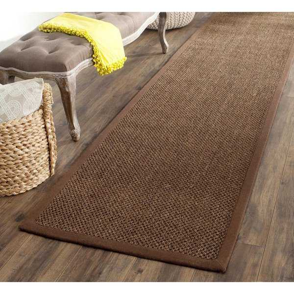 Safavieh Casual Natural Fiber Hand-Woven Resorts Brown Fine Sisal Runner Rug - 2'6 x 10'