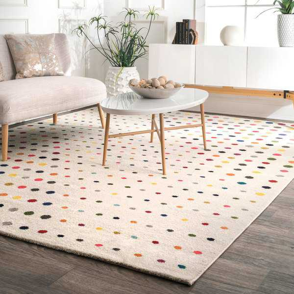 nuLoom Bohemian Multicolored Polka Dot Area Rug (5' x 8') - multi - 5' x 8'