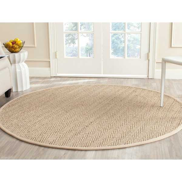 Safavieh Casual Natural Fiber Natural / Beige Seagrass Rug - 6' x 6' Round